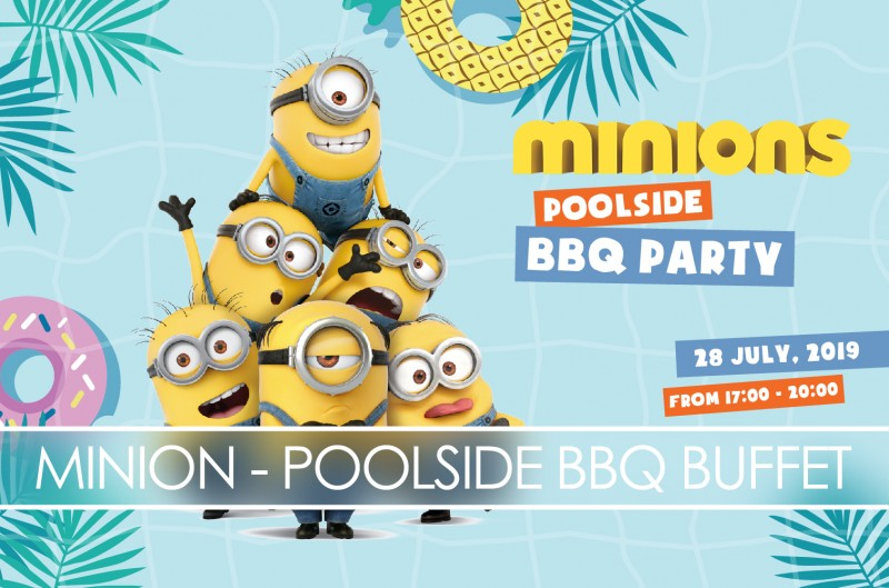 Minion Poolside BBQ Buffet Party